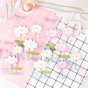 romantic-lotus-flowers-memo-pad-sticky-notes-school-supply-bookmark-label