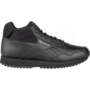 Chaussures Hommes Reebok Royal Glide Mid EG6624 Noir Baskets Sportive Haute Cuir