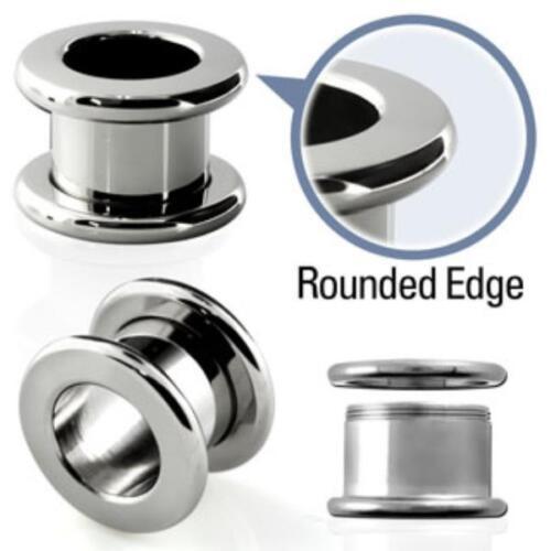 Túnel bollos piercing-oreja-ch acero 316l-ronda esquinas 12mm 18mm 16mm 14mm 20mm