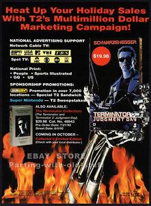TERMINATOR-2-Judgment-Day-Original-1992-Trade-print-AD-video-movie-promo-T2