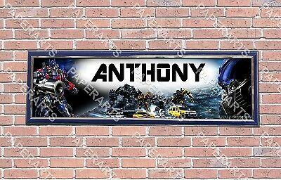 Personalized Customized Transformers #2 Name Banner Wall Decor Poster w// Frame