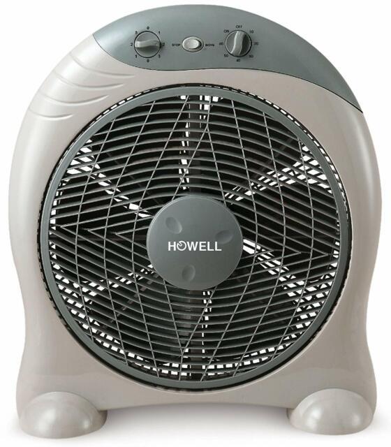 Ventilatore Box Fan da Pavimento o  Tavolo a Pale Ø 40cm Timer 3 Velocità HOWELL
