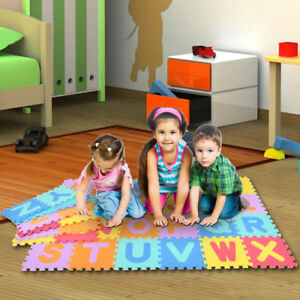 Spielmatte-Puzzlematte-Kinderteppich-Spielteppich-Schaumstoffmatte-Bodenmatte