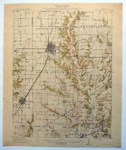 Mount Olive Illinois Antique 1915 Usgs Topo Map Litchfield