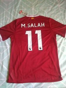ae5d12576 New Balance Mohamed Salah  11 Liverpool Red 2017 18 Home Player ...