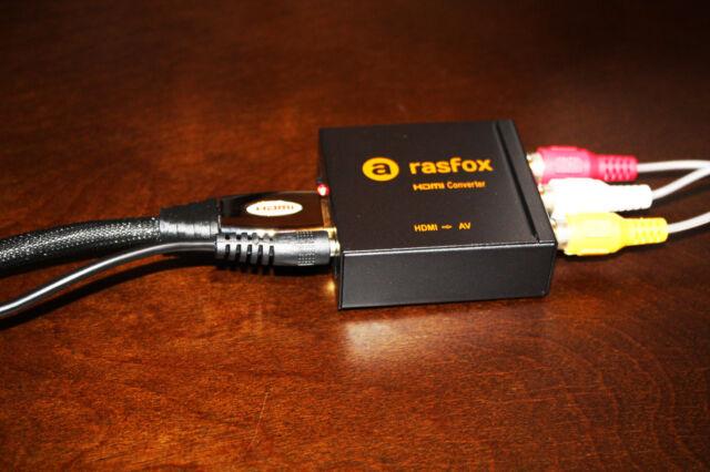 Rasfox RAS_HD1_AV HDMI to 3rca Composite AV Converter for sale online | eBay