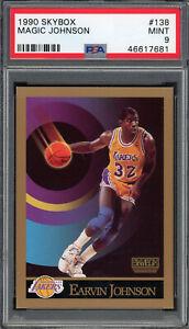 Magic Johnson Los Angeles Lakers 1990 Skybox Basketball Card #138 PSA 9 MINT