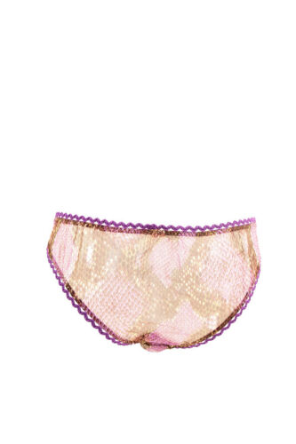 Womens Ruffle Brief Taglia Provocateur Snake Ribbon Agent Purple L 5ycA6ZKcU