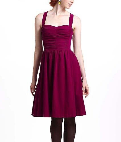 RARE RARE RARE Anthropologie Ruched Corduroy Dress Removeable Straps. Sz 4 (Retail  148) ff57b4