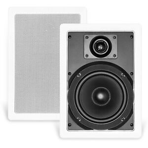 """NEW CT SOUNDS BIO 6.5"""" 2-WAY WEATHERPROOF IN-WALL SPEAKERS - HOME THEATHER"""