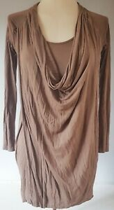 French-Connection-Femme-Top-Tunique-Marron-Taille-8-Casual-Tres-bon-etat