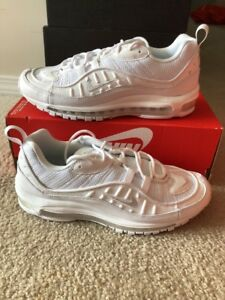 bce2973041c6a9 NIKE AIR MAX 98 TRIPLE WHITE 640744-106 Mens Size 13 Off White