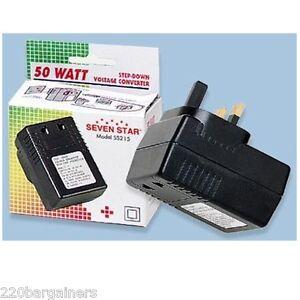 USA-US-To-UK-50-Watt-Voltage-Converter-Step-Down-220-Volt-To-110-50w-240V-110V