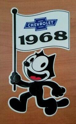 Felix the cat 1962 Chevrolet Flag Die Cut Decal Chevy Impala Lowrider Hot Rod