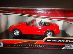 Mazda-MX-5-rojo-Coche-modelo-diecast-escala-1-24-Motormax