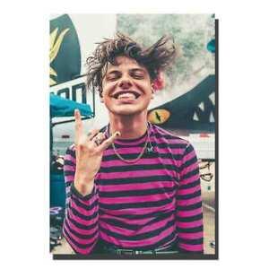 V-224-Yungblud-Rock-Music-singer-Fabric-Silk-Poster-Canvas-wall-decor24x36-12x18