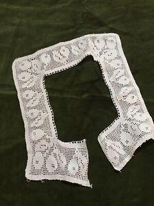 Antique-Lace-Collar-1920s-Cotton-French-Crochet-Salvage-Vintage
