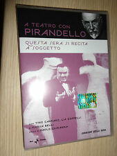 DVD A TEATRO CON LUIGI PIRANDELLO QUESTA SERA SI RECITA A SOGGETTO CARRARO BELLI