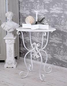 Eisentisch Garten.Details Zu Kaffeetisch Shabby Chic Gartentisch Weiss Eisentisch Garten Tisch Antik