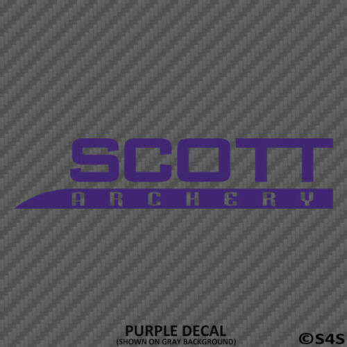 Scott Archery Bow Hunting//Outdoor Sports Decal Sticker V3 Choose Color//Size
