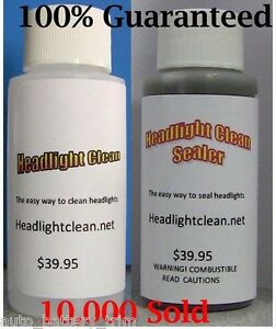 Details about Headlight Restoration Kit Cleaner And Sealer Professional  Strength