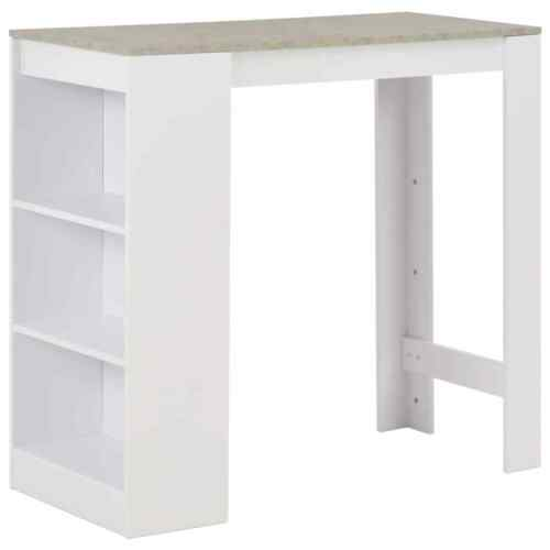 Breakfast Bar Table Dining Tables Bistro Wine Rack Chipboard with 3 Layer Shelf