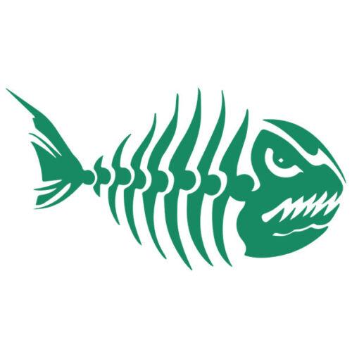 Sticker Décoration Pêche Poisson Squelette Piranha 10x18 cm à 30x55 cm