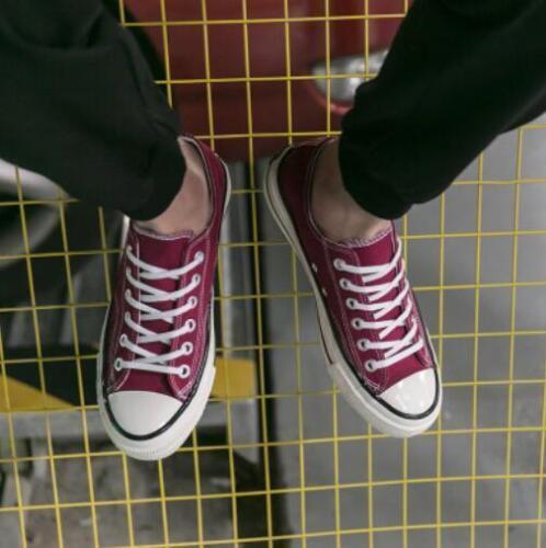 Baskets Lacets Décontractées Respirant Chaussures Sport Mens Low Top canvas flats!!
