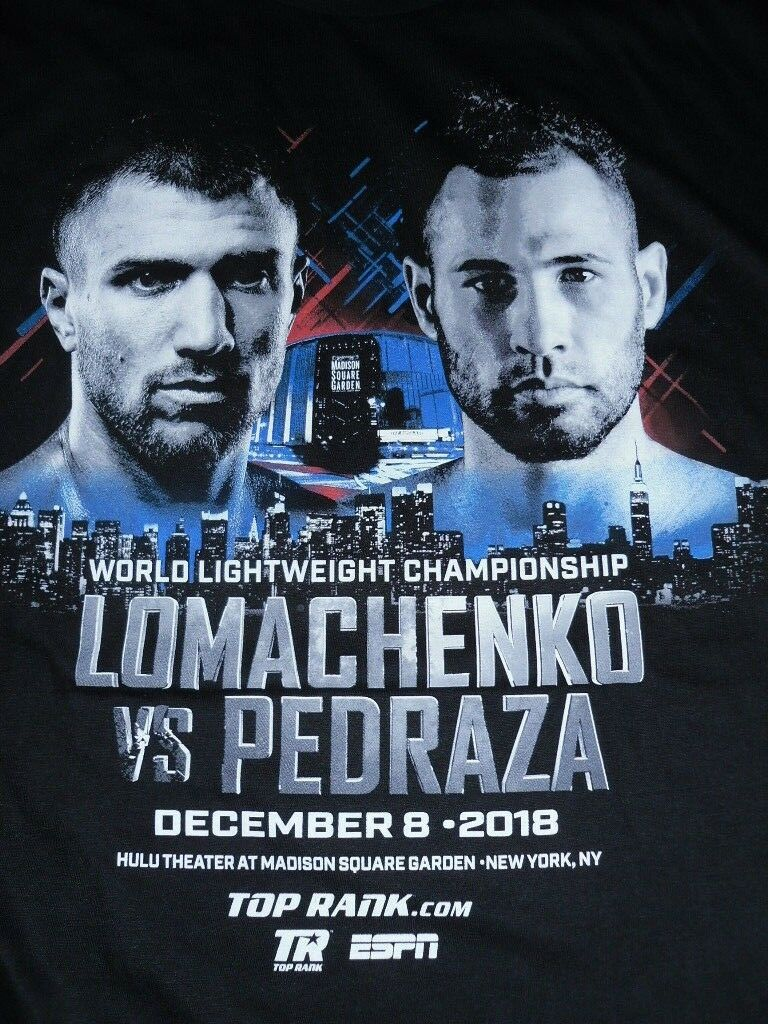 Official T-hemd Lomachenko vs Pedraza Madison Square Garden New York Boxing WBO
