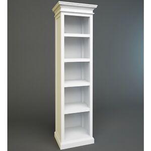 novasolo kollektion halifax ca591 b cherregal regal 5 f cher weiss landhaus ebay. Black Bedroom Furniture Sets. Home Design Ideas