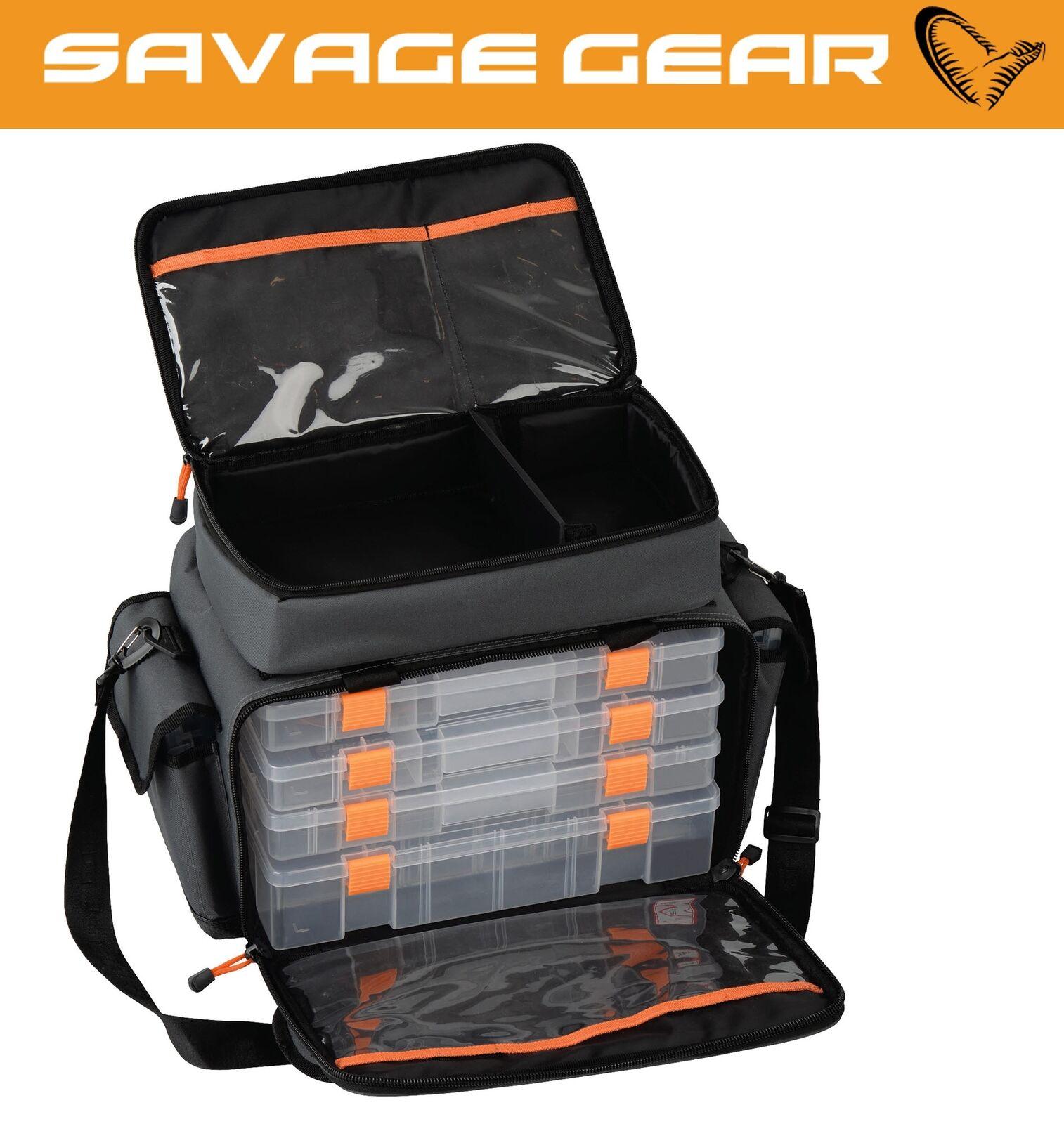 Savage Gear inkl. Lure Specialist Bag L Tasche 35x50x25cm inkl. Gear 6 Angelboxen bed6ef