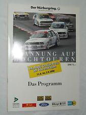 1990 Programm DTM GP der Tourenwagen Nürburgring BMW M3 F3 DTT Ford Fiesta Cup