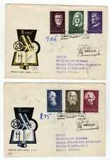 5173) POLAND 1959 Reg FDC x 2 Scientists Einstein