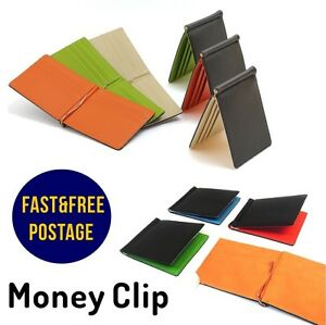 NEW-Stylish-Design-Men-Women-Ultra-Slim-Money-Clip-Wallet-Card-PU-Leather-Purse