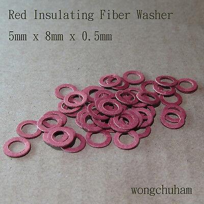 25 Pcs Red Fiber Washer 2.5mm x 7mm x 0.5mm