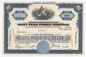 SPECIMEN-West-Penn-Power-Company-Stock-Certificate