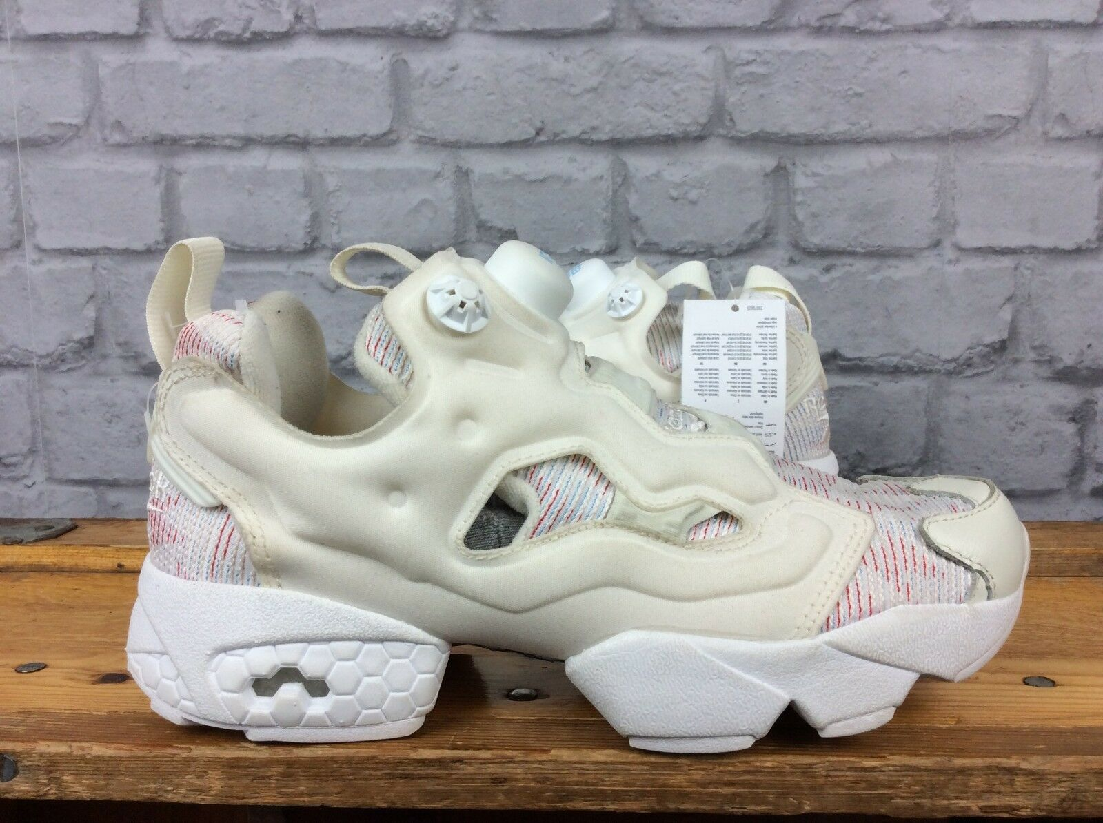 REEBOK LADIES UK 3 EU 35.5 CREAM Blau ROT INSTAPUMP FURY FURY INSTAPUMP TRAINERS 840edf
