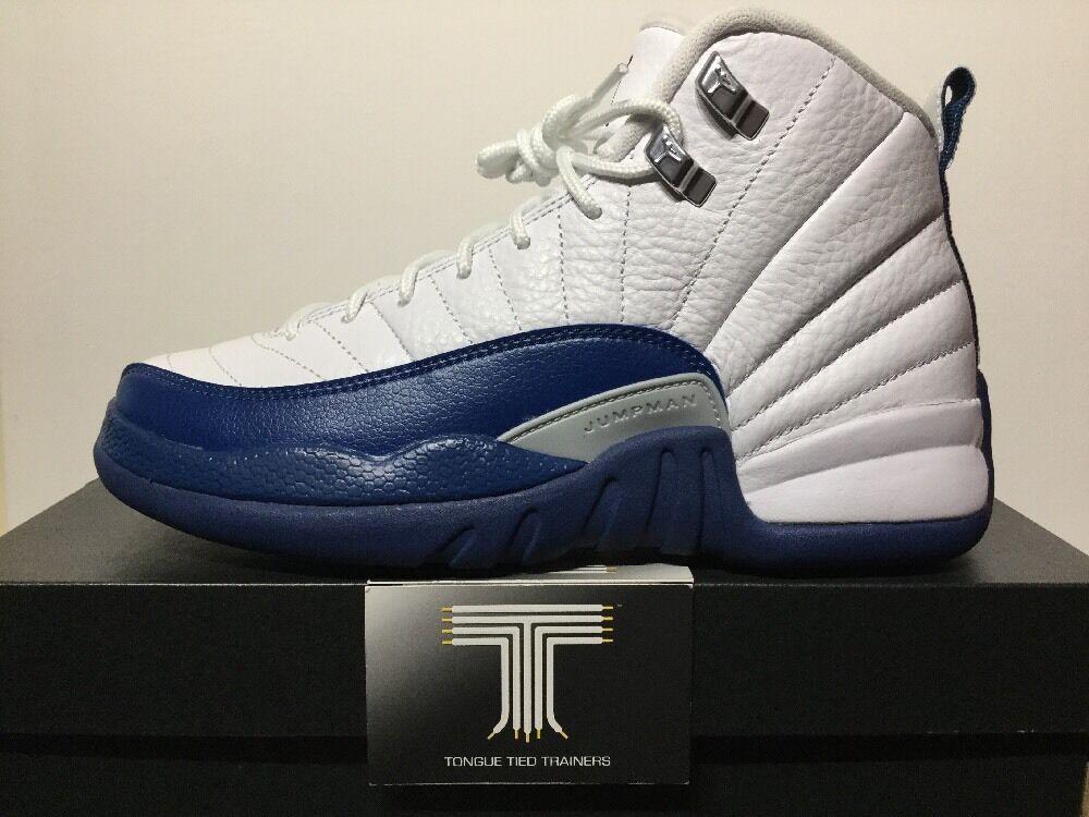 Nike air jordan 12 retro bg ~ french Bleu ~ 153265 113 ~  Chaussures de sport pour hommes et femmes