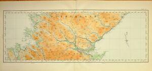1924-LARGE-SCOTTISH-MAP-SUTHERLAND-EASTER-ROSS-DORNOCH-COIGACH-GREENSTONE