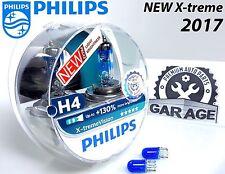 NEW Philips H4 Xtreme Vision 2017 +130% Headlight Bulbs 12V 55W P43t-38 Blue W5W