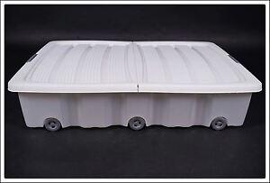 XXL-Unterbettkommode-weiss-60-L-Unterbettbox-Rollenbox-Spielzeugkiste-Rollbox