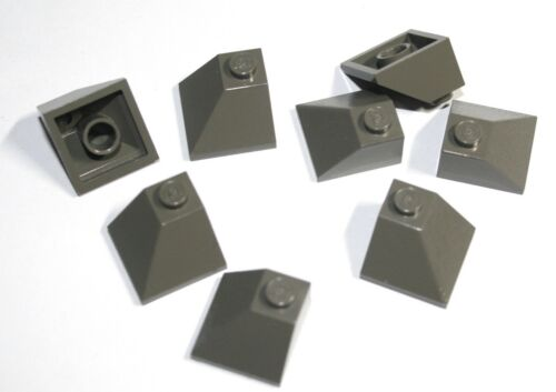 8x LEGO® Eck-Schrägstein Dachstein doppelt 45° 2x2 3045 NEU dunkelgrau
