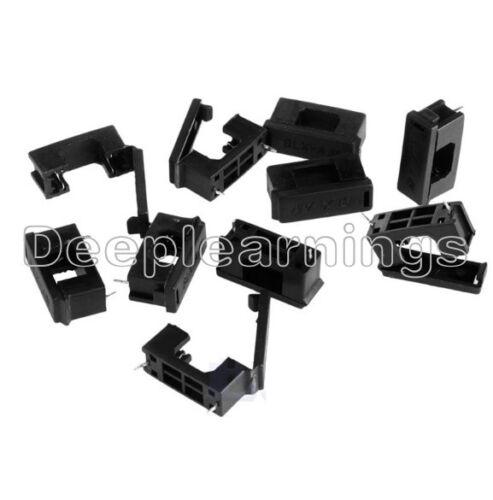 50Pcs Raqueta-un tipo de montaje de PCB Portafusibles 5MM X 20MM 15A//125v soldadura de los titulares de