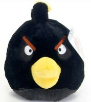 "OFFICIAL NEW 6"" BLACK ANGRY BIRD FROM ANGRY BIRDS COLLECTION PLUSH SOFT TOY"