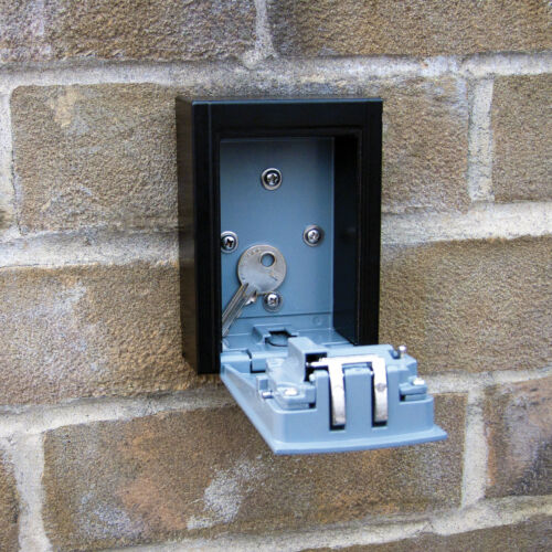 HIGH SECURITY STEEL WALL MOUNT KEY BOX WITH COMBINATION LOCK//SAFE STORE KEYS//CAR