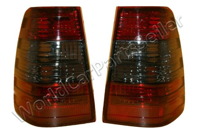 MERCEDES W124 Wagon 5DR Red Smoke Tail Lights Rear Lamps PAIR 1986-1995