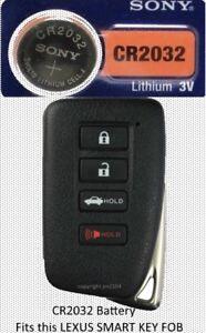 Lexus Key Fob Replacement >> Details About Lexus Remote Key Fob Replacement Battery For Smart Key Sony Cr2032