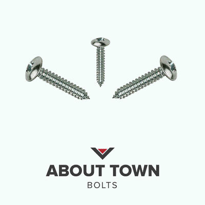 """Qty 50 Pan Self Tapping 6g 3.5mm x 1//2/"""" 13mm Marine Stainless Screw 316 A4 SS"""
