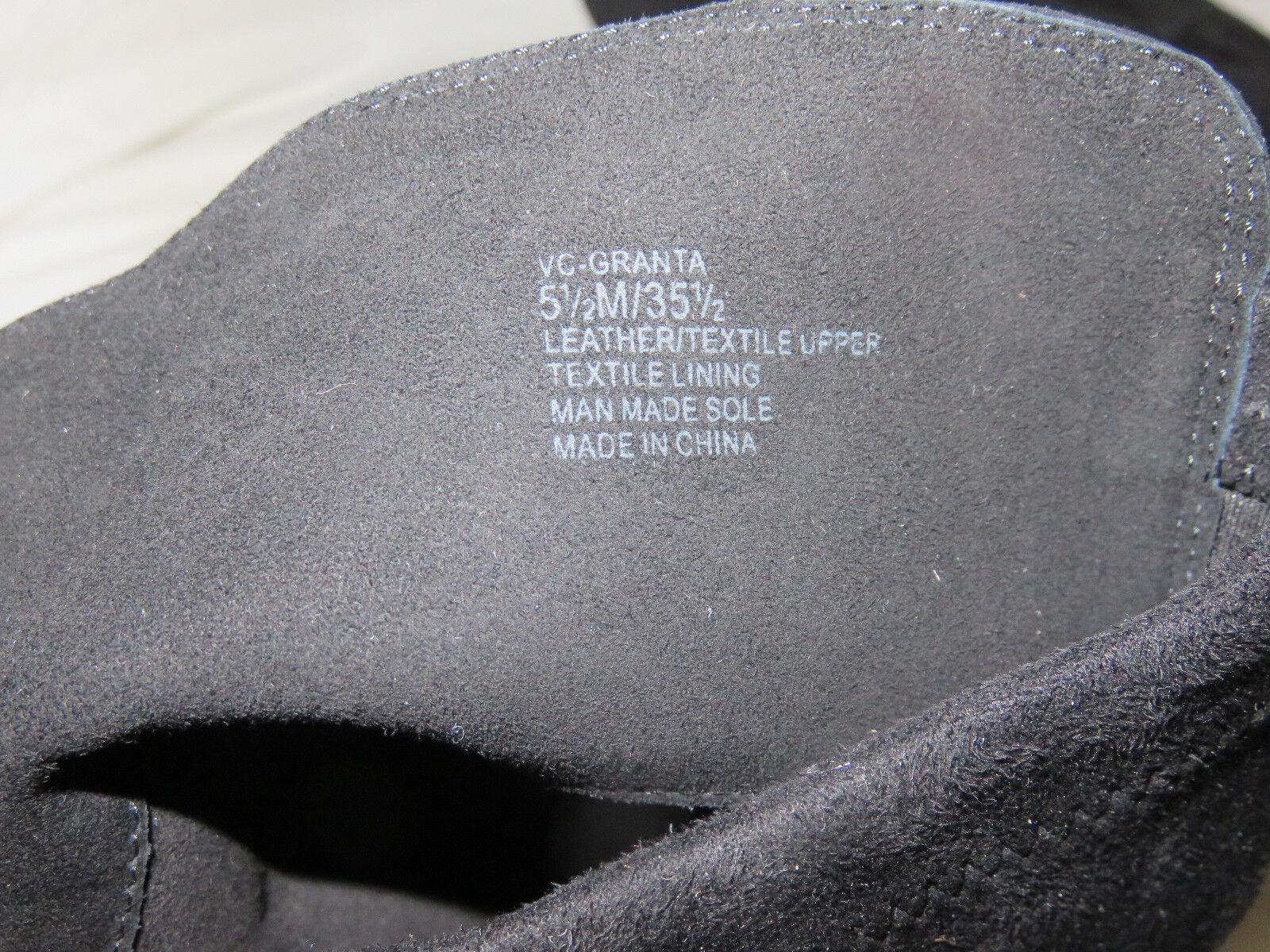 Vince Camuto Granta Negro de cuero de gamuza encima encima encima de la rodilla cuña Botas M Nuevo 460647