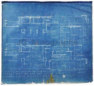 Frank-Lloyd-Wright-034-Lloyd-Lewis-House-034-Original-Blueprint-1939